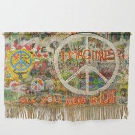 Peace Sign - Love - Graffiti Wall Hanging