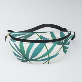 Fan Palm Fronds / Tropical Plant Illustration Fanny Pack