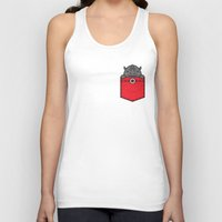 pocket Tank Tops featuring Pocket Rhino by Steven Toang