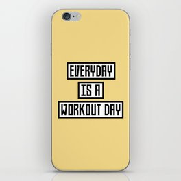 Workout Day fitness T-Shirt for all Ages Dx41w iPhone Skin