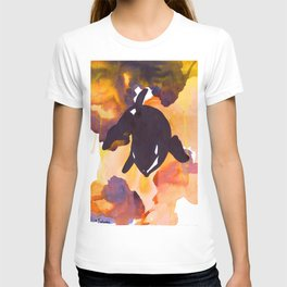 Diving Orca - Orange and Yellow T-shirt