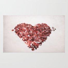 My Confetti Heart Rug