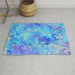 Blue mable Rug