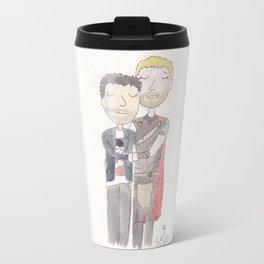 Thor and Bruce Travel Mug