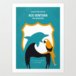 No558 My Ace Ventura minimal movie poster Art Print