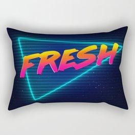 Fresh 80s Retro Neon Rectangular Pillow