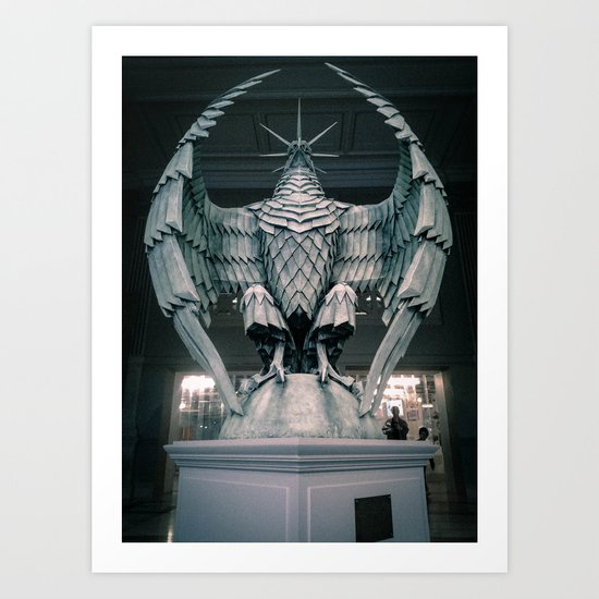 The Eagle from the Hello H5 exposition at la Gaité Lyrique. Art Print