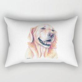 Golden Retriever - Dog Portrait Rectangular Pillow