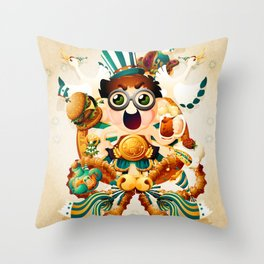 The Champion of new year Throw Pillow