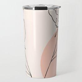 Poppies line drawing Travel Mug