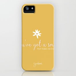 You've Got a Smile That makes me know I am OK - Jess Novak Lyric Print- Inspirational iPhone Case