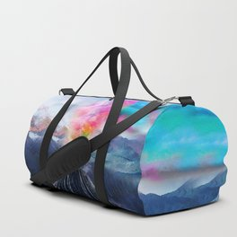 Rainbow Volcano Duffle Bag