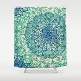 Emerald Doodle Shower Curtain