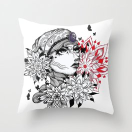 Flower of Life Gypsy Throw Pillow