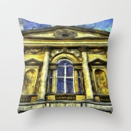 Roman Bath Van Gogh Throw Pillow