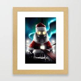 Robot Santa Framed Art Print