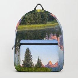 Grand Teton National Park Mountain Range Reflection Sunrise Backpack