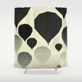 Morning wind balloons Shower Curtain