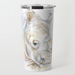 Rhino Watercolor Travel Mug