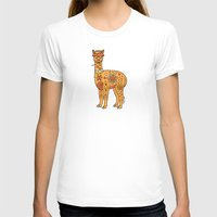 alpaca T-shirts featuring Alpaca by Peggy Cline