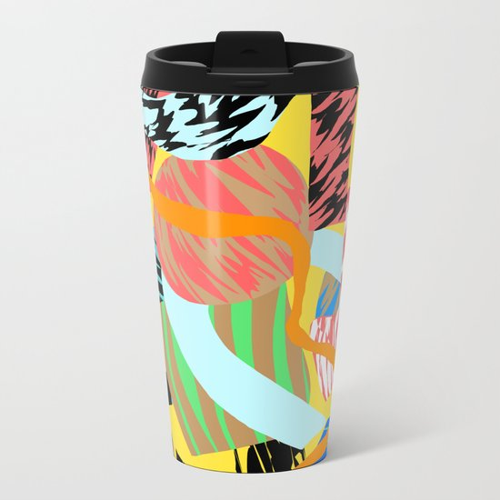 mellow yellow Metal Travel Mug