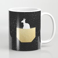 pocket Mugs featuring ANIMAL POCKET by Marg