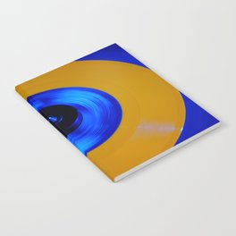 Yellow Blue Record Notebook
