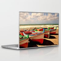 boats Laptop & iPad Skins featuring boats by  Agostino Lo Coco
