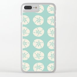 Sand Dollars Light Green Clear iPhone Case