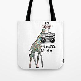 Giraffe Music Tote Bag