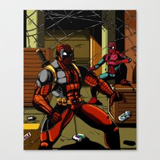 The Amazing Spider-Pool Canvas Print