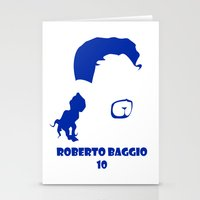 juventus Stationery Cards featuring Baggio Juventus by Sport_Designs