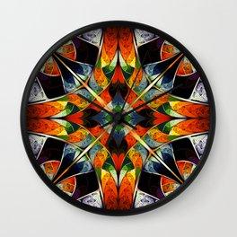 Kaleidoscope. Colorful fractal Wall Clock