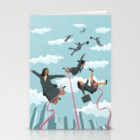 tape Stationery Cards featuring Pink Tape by John Holcroft