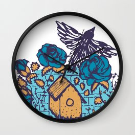 Fly free little bird Wall Clock
