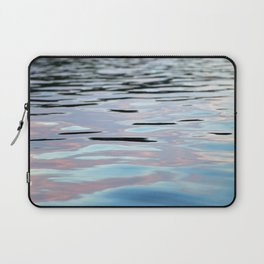 Pink, Lavender, and Blue Water Abstract Laptop Sleeve