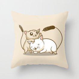 CatTails! Throw Pillow