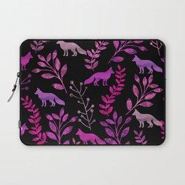 Watercolor Floral & Fox II Laptop Sleeve