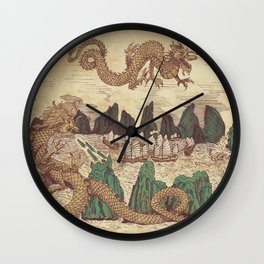 The Halong Bay Creation Myth Wall Clock