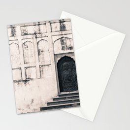 Mughal Indian Black and White Architecture in Red Fort, New Delhi Stationery Cards