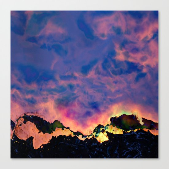 The World On Fire Canvas Print