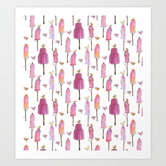 Jelly Trees Art Print