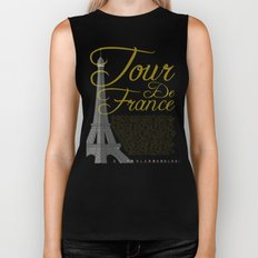 Tour De France Eiffel Tower Biker Tank