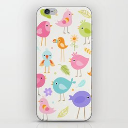 Birds - Off White iPhone Skin