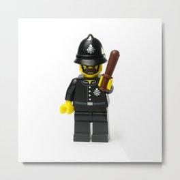 Old school English policeman Minifig Metal Print