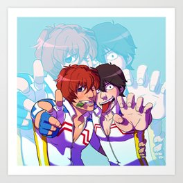 yowapeda Shinkai & Arakita Art Print