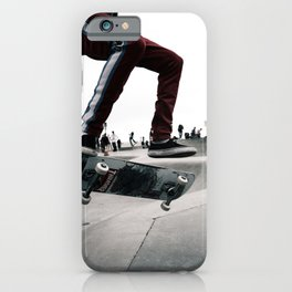 Venice Skatepark II Venice Beach Skatepark Skateboarding poster Skateboarding print iPhone Case