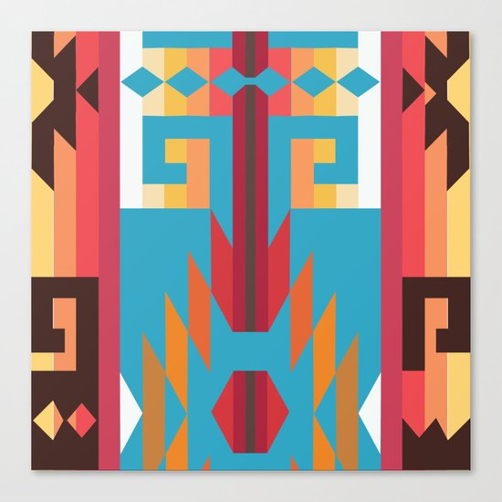 American Native Pattern No. 49 Canvas Print