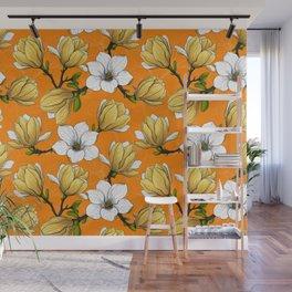 Magnolia garden in yellow    Wall Mural