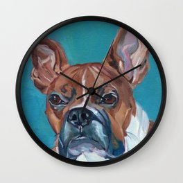 Walker the Boxer Dog Portrait Wall Clock